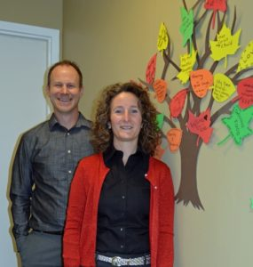 Co-executive directors of Shrewsbury Youth and Family Services Justin Mussler and Annamaria Chittim. Photo/submitted