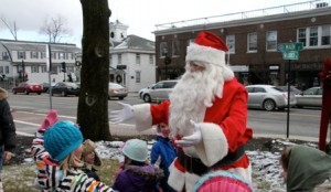 Santa greets his fans.