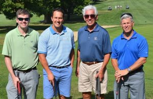 The foursome representing Grossman Development Group, a Hole in One sponsor, are (l to r) Jamie Anderson, Paul Grossman, Howard Grossman and Mark Hebert.