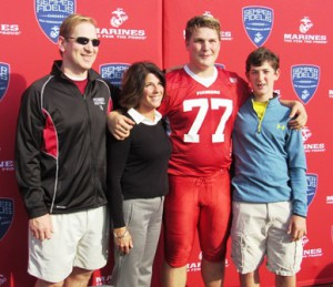 John and Katie Ragan, with their sons Sean and Matthew