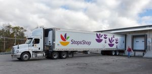 Dan Flynn readies a delivery of 1,000 turkeys from Stop & Shop to the Worcester County Food Bank.
