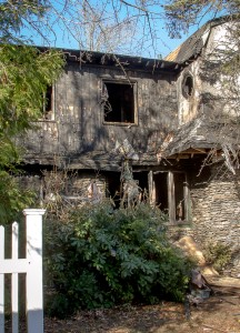 This home at 24 Artemas Way is a total loss after a fire Nov. 13. Photo/Jerry Callaghan
