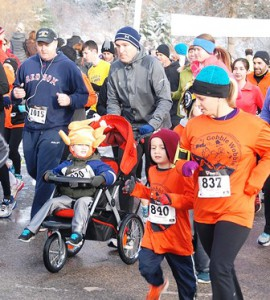 All ages begin the eighth annual Gobble Wobble.