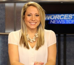 Ana Bottary on the set of Worcester News Tonight. (Photo/submitted)