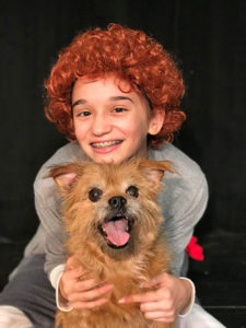 "Lauren Lattanzi as ""Annie"" with Bentley as ""Sandy."" Photo/submitted"