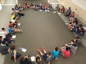 "Students discuss ""Into the Killing Seas"" by Michael P. Spradlin."