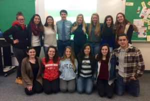 Members of the Hudson High School Portuguese overseas group. (Photo/submitted)