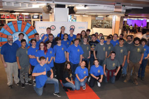 The Assabet Valley Regional Technical High School robotics team, the AZTECHS, at a team-building event at Laser Tag in the APEX Entertainment Center. Photos/submitted
