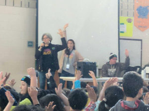 Dina Crieger, founder of Choose to be Nice, speaks to the students.Photos/submitted
