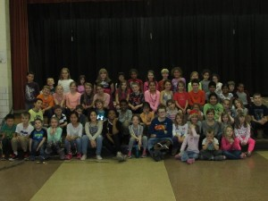 """Cast of """"Lion King, Kids,"""" recently performed at Peaslee School. (Photo/submitted)"""