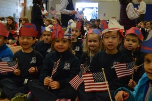 "Preschoolers get ready to sing ""Yankee Doodle Dandy."" Photos/submitted"