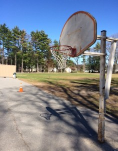 The basketball courts, prior to their recent renovations, were in great disrepair.  Photo/submitted