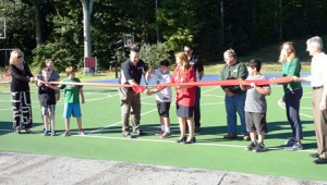 The Proctor School basketball courts are officially re-opened.  Photo/Bonnie Adams