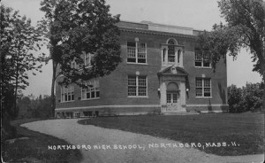The Northborough High School building in 1924, located at the current town offices.