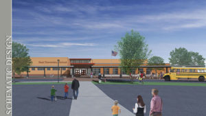 A schematic drawing of the new Beal School. Photo/submitted