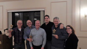 Team SSMA (l to r) Bjorn Bakken, Mark Adler, Brian Yankee, Jeff Fuller with Hank Stolz (center,) and Mary Aicardi Photo/ Melanie Petrucci