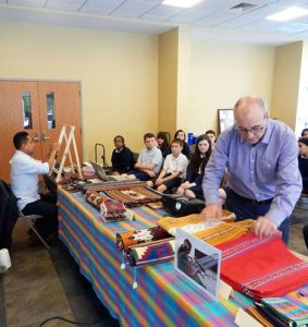 Mexican folk artist visits students at Saint Mary School in Shrewsbury