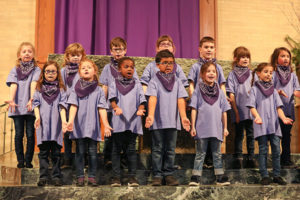 """Students at St. Mary's School recently presented the play, """"The Loaned Manger - a Wild West Christmas Adventure""""for their family and friends. Photo/Stacey Hughes Photography"""