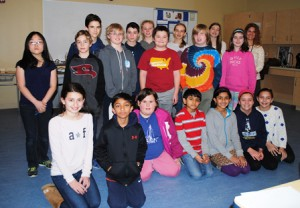 Members of the Sherwood and Oak Middle Schools' League of Architects Photo/Nance Ebert