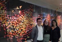 SHS students Zachary St. Pierre and Phoebe Gullion with Faculty Advisor Pamela LeBlanc Photo/Melanie Petrucci