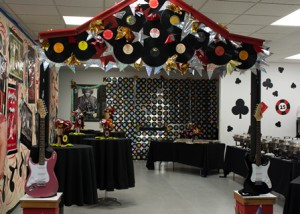 Decorations at the 2015 Project Graduation Westborough event bring the Viva Las Vegas theme to life for the graduates.