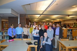 Westborough High School students and local veterans.