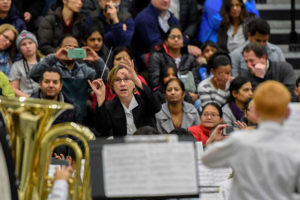 The Gibbons Middle School Band is directed by Karen Forrest. Photos/Susan Forbes