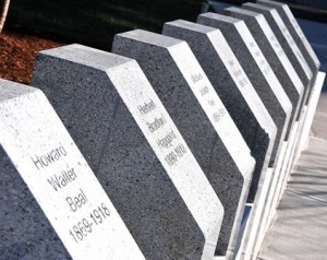 The names of eight fallen Shrewsbury residents are inscribed on the monument.