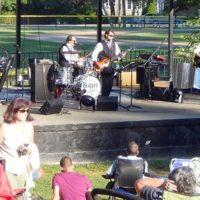 Beatles for Sale perform at Dean Park.