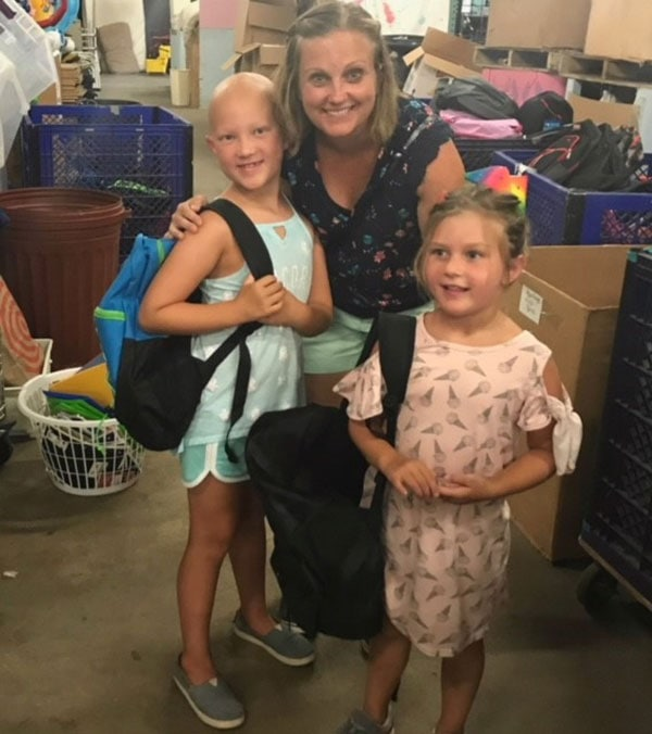 Abigail Blanchard with her mother Megan and younger sister Katie Photo/submitted