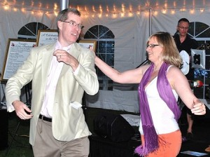 Neil and Cristina Heffernan dance the night away.