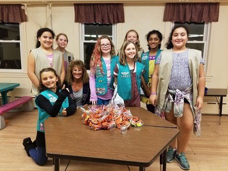 troop 11087 girl scouts jessica minton abigail padilla lauren padilla cassidy astrino elizabeth nelson kasey foote and varsha swaminathan