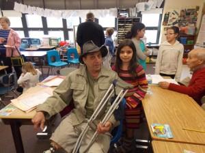 Samara Moriarty and her grandfather Ron