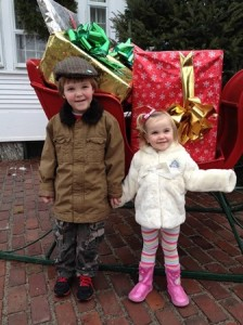 Rory Shanley, 5 and his sister, Maeve, 3, are excited about Santa Claus's upcoming Dec. 7 visit to the Sumner House. (Photo/submitted)