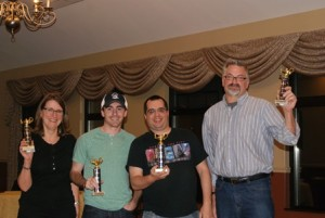 This year's winning team, The A Team, consisted of Shrewsbury High School faculty members (l to r) Moira Lumley-Chan, Patrick Collins, Steven Sousa and Paul Wood. (Photo/Brenda Buckley)