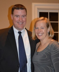 Shrewsbury Superintendent Dr. Joseph Sawyer with his wife Dr. Laurence Sawyer.