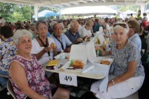 Shrewsbury seniors gather for the barbecue lunch.