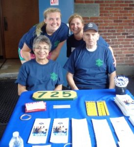 Volunteer staff Lauren McCarthy, Debbie McCarthy, Toby Sherman, and John Manzi