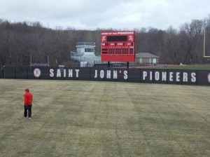 The newly renovated Pioneer Field