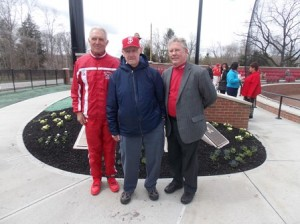 Honorees (l to r) Ron Darling Sr., John Case and William White, all former coaches of St. John's baseball.