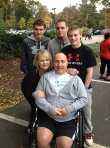The Ward family: (back, l to r) Colin, 17, Kevin, 17, Matthew, 15, (front, l to r) Kristen and Art. Photo/submitted