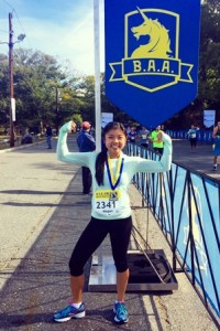 Megan Yuen will be running her first full marathon in April. Photo/submitted