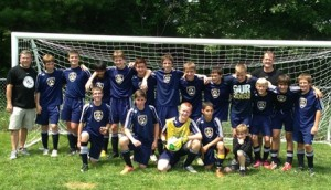 The Shrewsbury Boys U14 soccer team Photo/submitted
