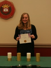 Lara Underkoffler at the Kappa Delta Pi ceremony at Keene State College. (Photo/Jeffrey Underkoffler)