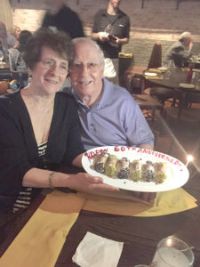 Vincent and Shirley Mattero celebrate their 60th Anniversary with a special desert. Photo submitted