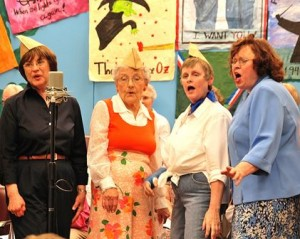Women of the Senior Songsters sing