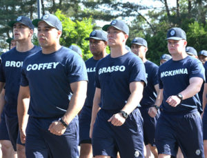 Representatives of the Massachusetts State Police Academy begin the walk. Photos/Ed Karvoski Jr.