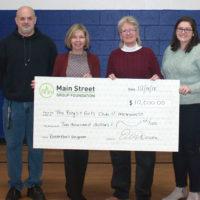 (l to r) Peter Dickerman, club director at Boys & Girls Clubs of MetroWest's Marlborough Clubhouse; Ellen Dorian, EVP/COO, Main Street Bank; Chris Duane, president & CEO of Boys & Girls Clubs of MetroWest; and Laura May, director of resource development at the Boys & Girls Clubs of MetroWest. Photo/submitted