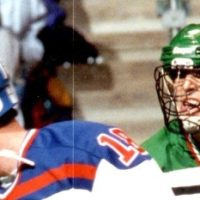 Randy Fraser playing for Team USA lacrosse.