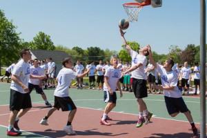 Sean Hill, a 2013 Algonquin Regional High School graduate, shoots the ball in the 135 Spring Classic Basketball Tournament.